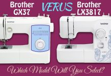 Brother GX37 vs LX3817