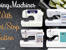 Sewing Machine With Start Stop Button
